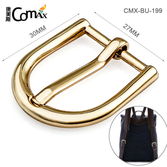 "Factory Direct Provide 3/4"" Gold Plating Bag Pin Buckle, Custom Nickel-Free Zinc Alloy 27mm Metal Pin Buckle for Bag/Belt"