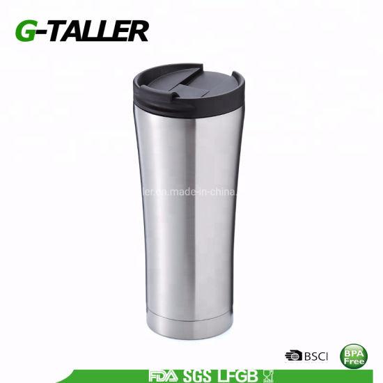 500ml Insulated Stainless Steel Flip Travel Mug BPA Free