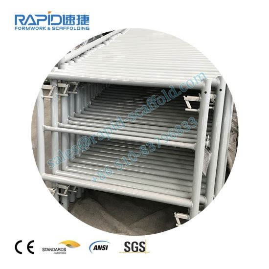 Rapid Scaffold Power Coated/ HDG Ladder Frame with Locking Pin for Frame Scaffolding System