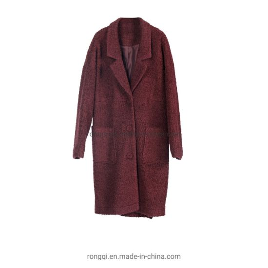Ladies Woolen Front Buttons Coat