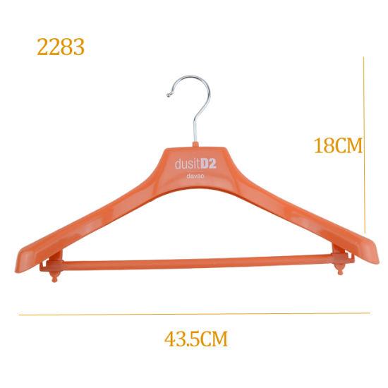 Men Sport Wear Suit Jacket Display Plastic Hanger with Bar
