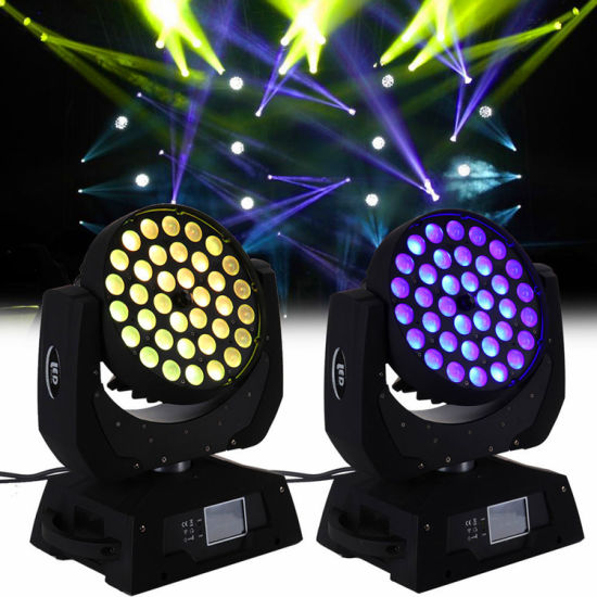36*12W RGBW 4 in 1 Pancratic Lens Moving Head Stage Light