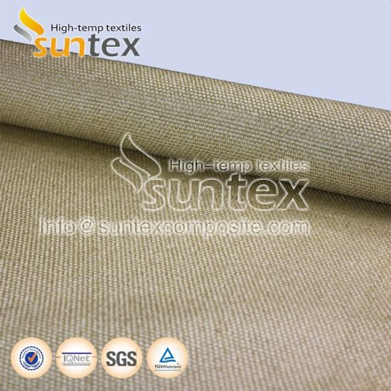 Fiberglass Jacket Thermal Insulation High Temperature Fiberglass Cloth  Welding Protection Fire Curtain Vermiculite Coated Fiberglass Fabrics