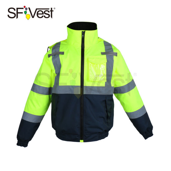 100% Polyester Lightweight Waterproof Safety Jacket