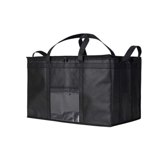 Food Delivery Bag, Insulated Reusable Grocery Bag Ideal for Uber Eats, Instacart, Doordash, Grubhub, Postmates, Restaurant, Catering, Grocery Transport Dual