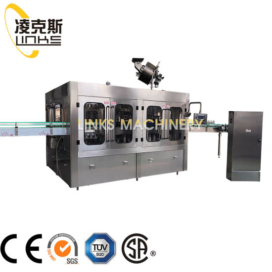 Automatic Fizzy Carbonated Drink Sparkling Water Beer Filling Bottling Sealing Labeling Wrapping Machines Line Packaging Machine