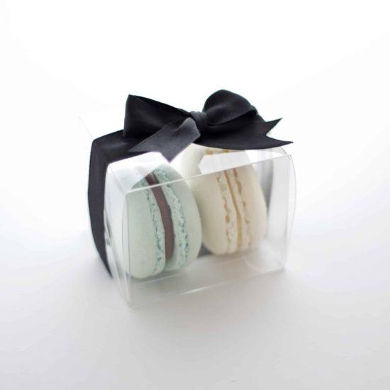 Eco-Friendly Transparent Pet Plastic Clear Macaron Box