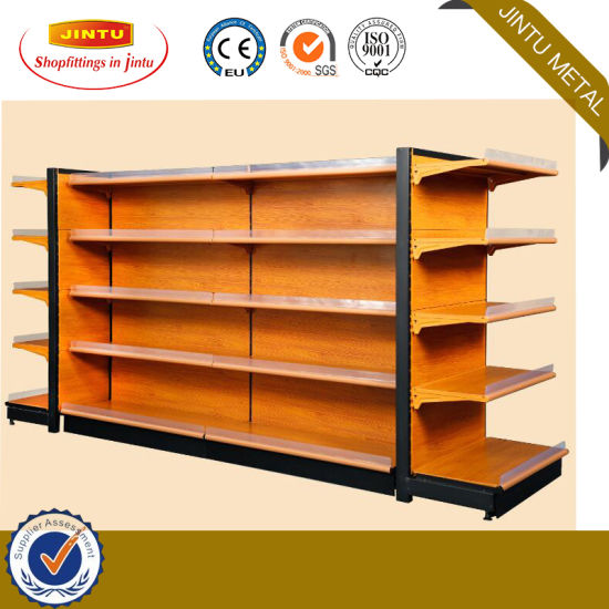 High Quality Backing Plate Metal Wall Gondola Supermarket Shelf