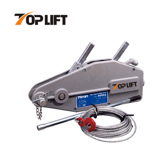 Manual Lifting Equipment 1.6t Wire Rope Pulling Hoist