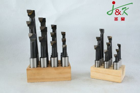 3/4 12PCS/Set Wooden Stand Carbide Tipped Boring Bars