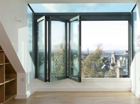 Cheap Aluminum Glass Bifold Passive Window Aluminium Bifold Window Aluminum Glass Folding Window/Bifold Window