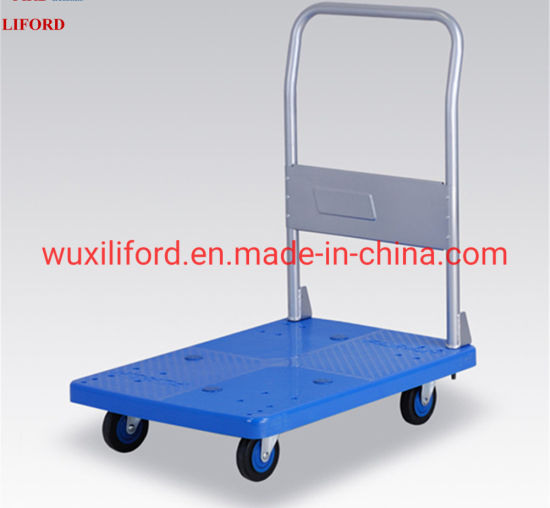 250kg Capacity Silent Wheels Plastic Platform Cart