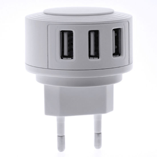 3USB Universal Charger Adapter 5V2.4A Fast Charging Mobile Phone Charger