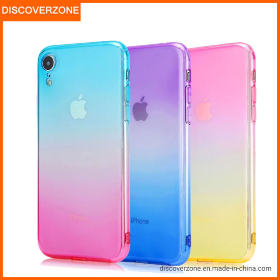 Gradient TPU Mobile/Cell Phone Case Anti-Fall Simple Two Color Phone Case