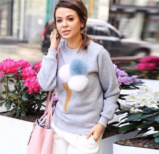 2016 Fashion Design Girls′ Printed Round Neck Long-Sleeved Sweater (80028) pictures & photos