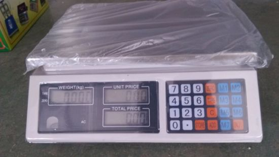 Digital Platform Price Weighing Scale 30kg pictures & photos