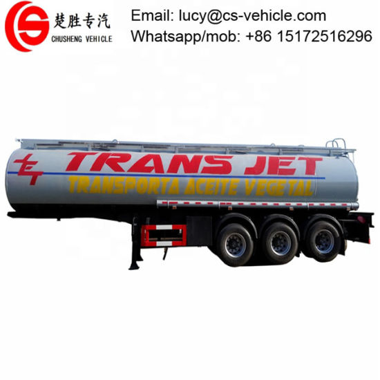 45000 Liter Fuel Trailer 30000liters 350000liters 45cbm Oil Tanker Semi-Trailer 3 Axles Water/ Diesel/Gasoline/Crude Oil / Milk Transport Trailer
