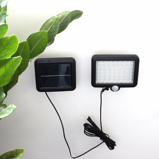 Outdoor Infrared Motion Sensor Split Solar Garden Wall Light 56 LED pictures & photos