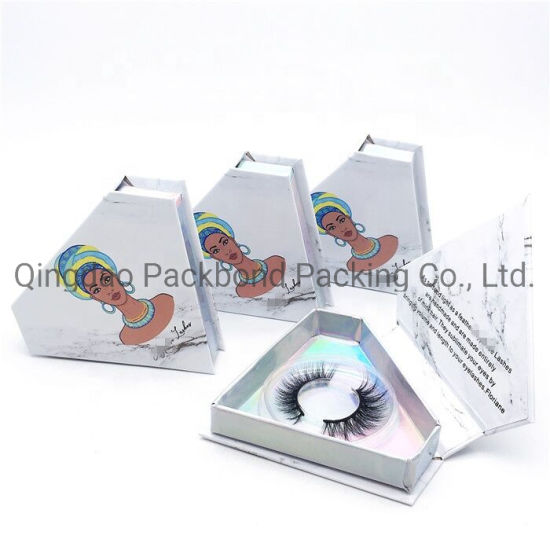 7033fc43bd8 Marble Design Hot Selling Diamond Shape False Eyelash Packaging Box