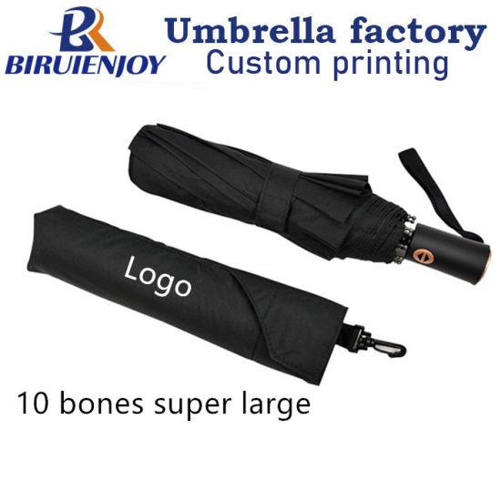 Portable Men's Business 3 Folding Umbrella Waterproof Windproof