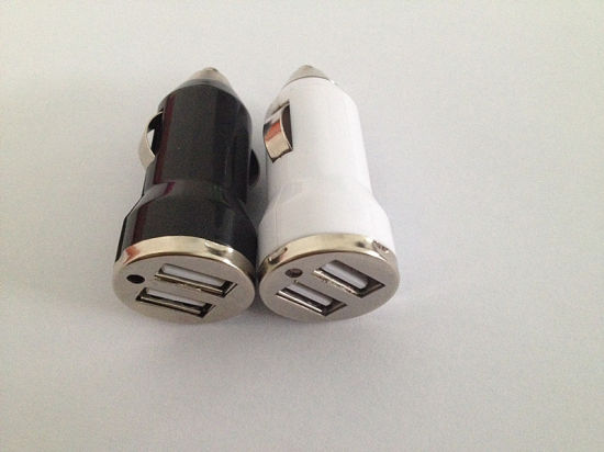 5V 2.1A+1A Dual 2 Port USB DC Car Charger for Smart Phone pictures & photos