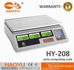 Digital Price Computing 15kg Calibration Electronic Scale Acs Tabletop Scale