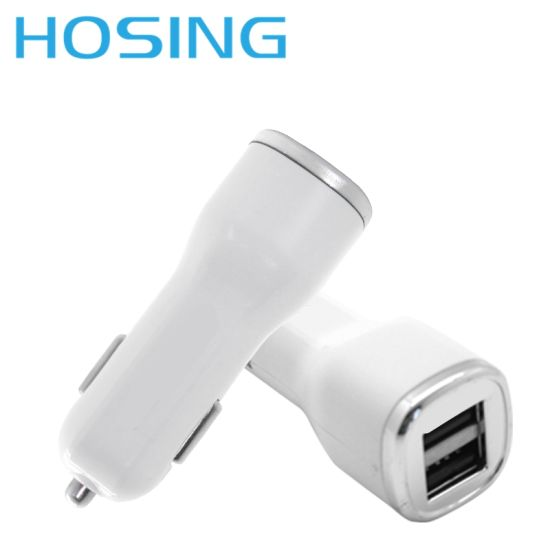 White Charger DC 5V 3.4A Cheap Car Charger pictures & photos