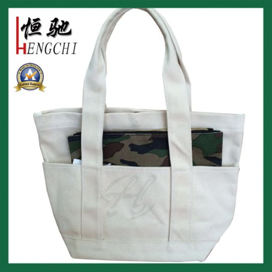 Ladies Canvas Beach Summer Holiday Tote Shopping Reuseable Handbag pictures & photos