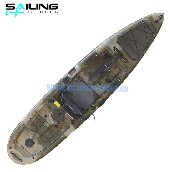China 13FT Sit on Top Fishing Peddle Kayak Avec Pedales Boat Propel Drive Wholesale