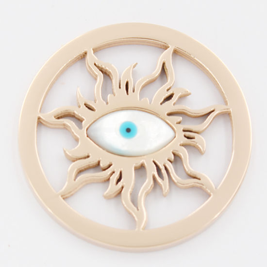 Running Eye Coin Plate Fit for Locket Pendant Fashion Jewelry pictures & photos