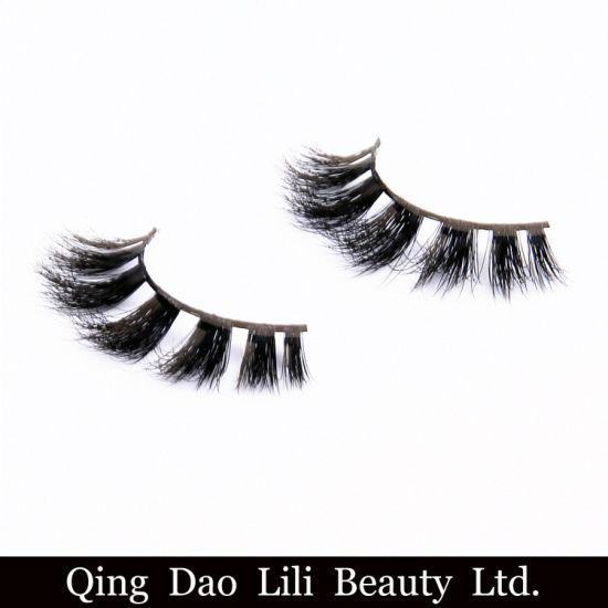 e3ad00d8351 New 100%Handmade Real Mink Fur False Eyelash 3D Strip Mink Lashes Thick Fake  Faux Eyelashes