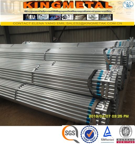 BS1387 Class B Q195 Carbon Steel Pre-Galvanized Gi Pipe Price List pictures & photos