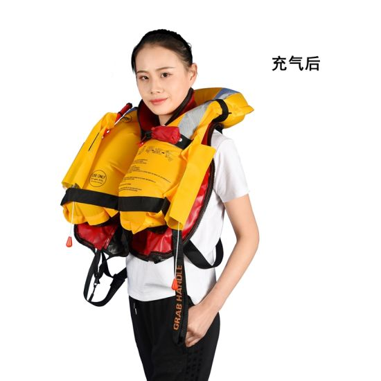New Product 2018 Inflatable Life Vest Amazon with Med Solas Certificates