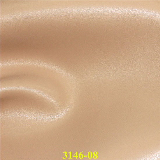 Top Quality Imitated PU Microfiber Leather with Suede Backinig pictures & photos