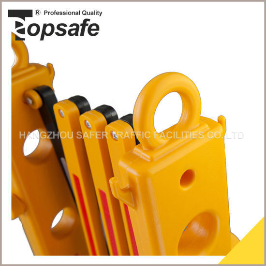 Yellow Black Plastic Extendable Barrier (S-1643) pictures & photos
