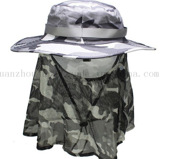 e620b5baf9586 China OEM Outdoor Fishing Jungle Bucket Hat Cap with Mosquito Net ...