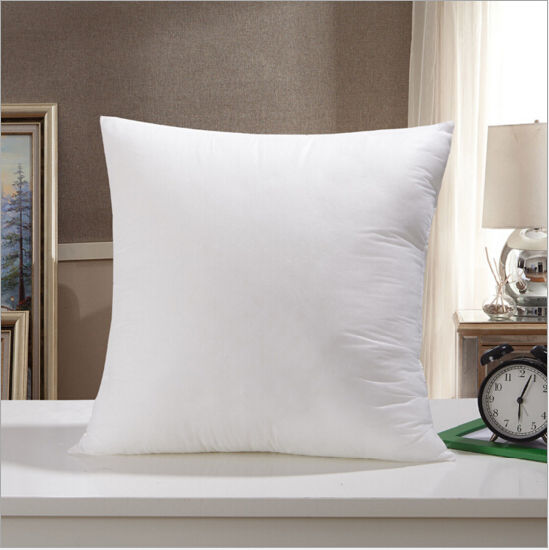 Square Shape Hotel White 6cm Duck Feather Pillow pictures & photos