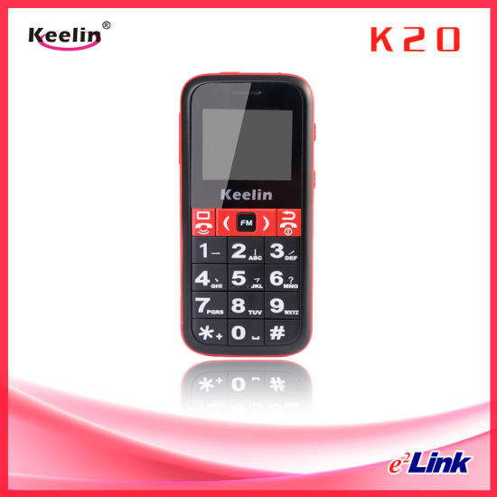 Elderly Cell Phone GPS/Lbs Long Life Battery High Flashlight Big Keyboard Sos Calling Pedometer K20 pictures & photos