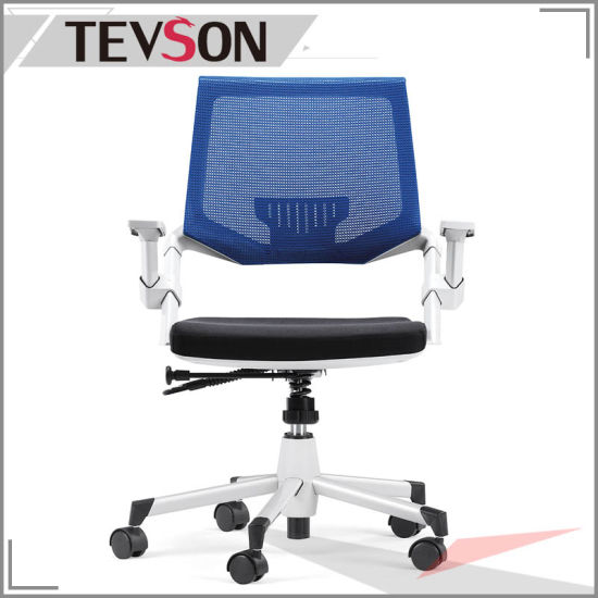 Economic Office Chair with Lumbar Support Mechanical Mesh Staff Chair pictures & photos