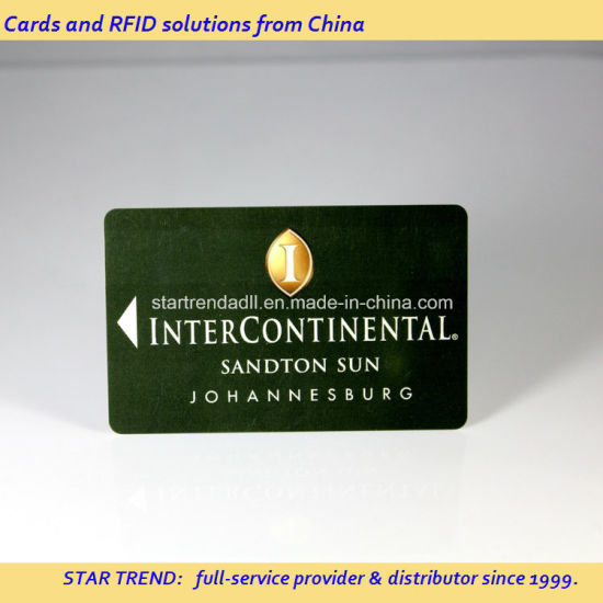 Printing Hico Magnetic Stripe PVC Card for Hotel Key Card pictures & photos