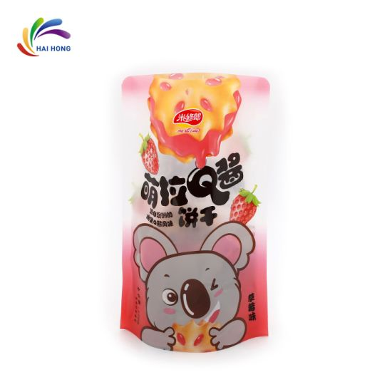 Stand up Plastic Soft Snack Food Packing with Zipper