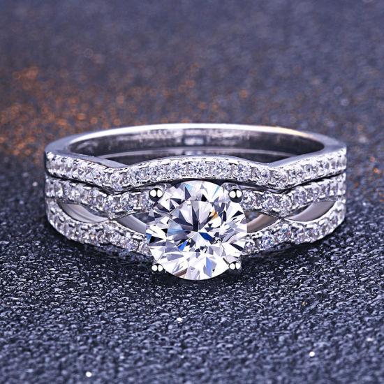 Luxury AAA Cubic Zirconia Diamond 925 Silver Engagement Rings