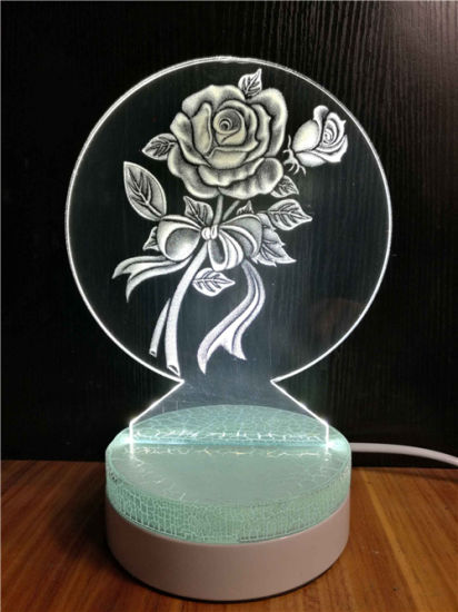 Creative Countertop Acrylic decoration Craft with LED in Shop, Stores