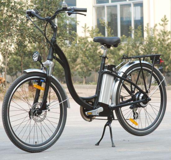 Elegant Aluminium Alloy Lithium Battery E-Bike (TDE-001)