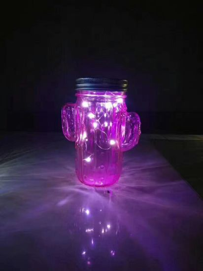 Screw Cap Glass Mason Jar with Handle pictures & photos