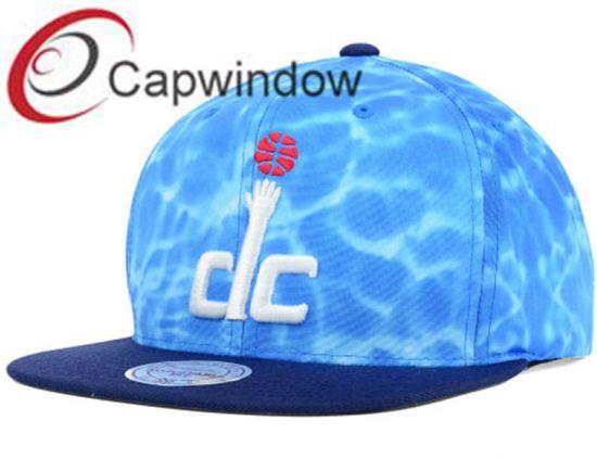 Blue Sea Water Printed Cotton Promotional Leisure Baseball/ Snapback Hat