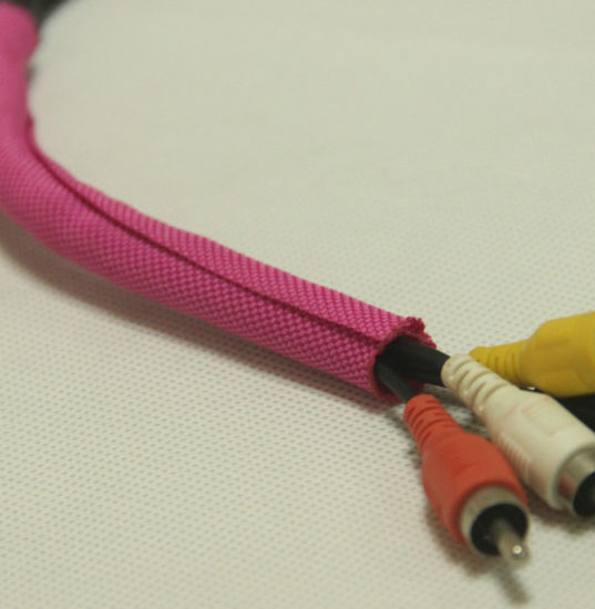 Fabric Woven Split Tubular Harness Wrap on