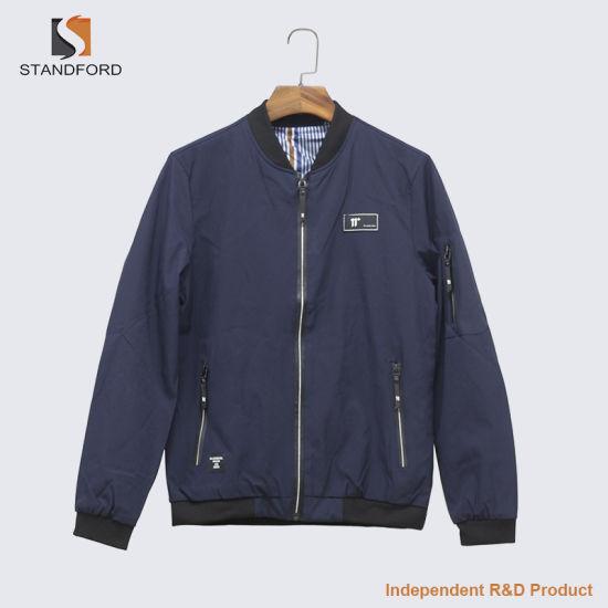Wholesale Leisure Jacket Customized Logo Plus-Size Light Bomber Jacket