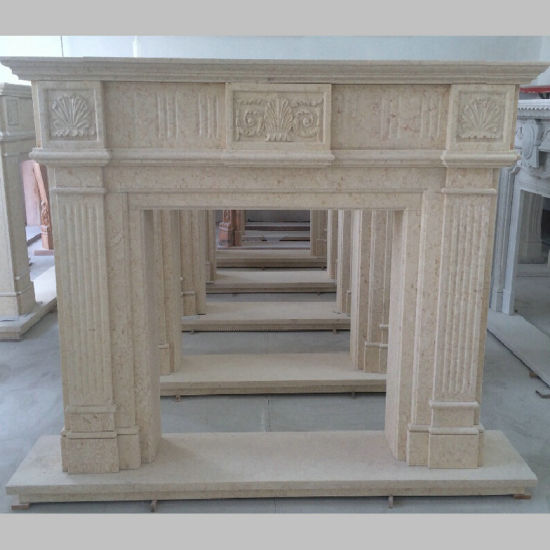 Modern Home Decoration Marble Carved Stone Fireplaces Mantel pictures & photos