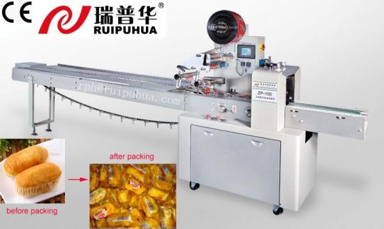 Pillow Type Pie/French Roll/Shortbread/Lady-Fingers/Waffle/Wafer Biscuit/Ginger Nut/ Macaroon/Bagel Chips/Croustadepackaging Machine (ZP-100 Series) pictures & photos